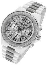 Rougois Cirros Milan White Ceramic & Silver Carbon Fiber Mens Chronograph Watch