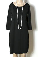 OPUS Kleid Gr. 38 schwarz knielang 3/4-Arm Shirt Kleid