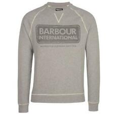 Barbour International sudadera de cuello redondo con logotipo impreso en Gris £ 100