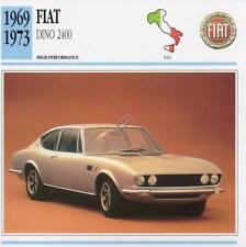 1969-1973 FIAT DINO 2400 Classic Car Photo/Info Maxi Card