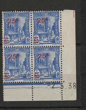 Tunisie RF Y&T N° 231 4 timbres neufs coin daté 2.5.38 /T3533