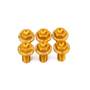 Front Fork Guard Bolts Screws For DRZ400SM DRZ 400SM 2005-2019 2018 Gold