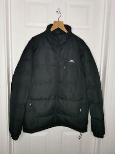 Trespass Mens Coat Jacket Waterproof Coldheat Insulation Size Medium Black