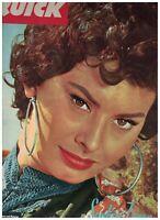 Quick Magazine May 3 1958 Sophia Loren Monaco Grand Prix Princess Grace