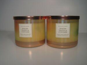 "Bath & Body Works 3-Wick Candles X2 ""Spiced Vanilla Cupcake"""