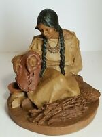 1985 Tom Clark Sculpture Nantahala And Little Bear Ed #80 Native American ~ Chip