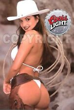 Fridge Magnet Sexy Coors Light cowgirl Angelie cute sweet ass bar decor
