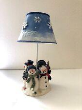 "Kohl's Four Snowmen Christmas Tea Light Candle Holder 9.5"" Tall x 5� Diameter"