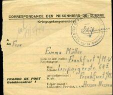 434648) Kriegsgefangenenpost a.d. Lager Annexe 1946 mit Zensur-K2 n. Frankfurt