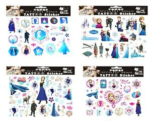 4 FROZEN TATTOO SHEETS Girl Birthday Christmas Party Gift Bag Filler Present