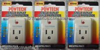 3X Single Outlet AC Wall Plug Surge Protector Power Suppressor 90 Joules 1875W
