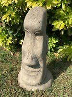 STONE GARDEN EASTER ISLAND HEAD / MOAI / TIKI CONCRETE ORNAMENT