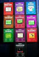 Atari 2600 Game Cartridge Lot Of 10 All Activision Kaboom Boxing Dragster More