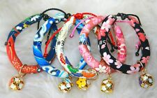 Us Seller Japanese Style Cute Pet Cat Dog Puppy Adjustable Collar with Charm