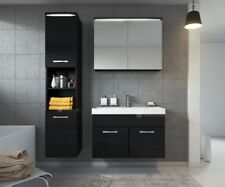 Modern Wall Mounted Bathroom Vanity Unit Storage Cabinet Sink Mirror LEDs Gloss