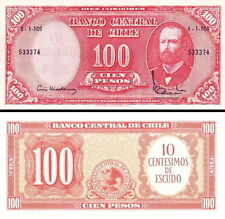 CILE - Chile 10 centimos on 100 pesos 1960 FDS - UNC