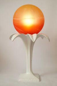 """Unique Design Table Lamp """" Tropicana Sunset Palm Ceramics Porcelain Lamp"""