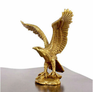 "Small Bronze Brass Statue EAGLE/Hawk Figure figurine 4.5""High"