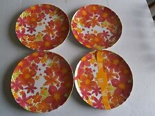 "SUMMER  Melamine Dinner Plates 11""  Set of 4   FLORAL"