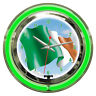 Irish Ireland Flag Nation Clock Sign 2 Ring Neon Clock