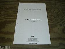 1994 Ford Econoline Van E150 E250 wiring diagram schematic SHEET service manual