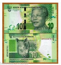 SOUTH AFRICA 10 RAND UNC BEAUTIFUL NOTE NELSON MANDELA # 518