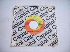 w SLEEVE Wanda Jackson Whirlpool / One Teardrop at a Time 1962 45rpm VG++
