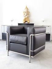 Cassina Le Corbusier LC 2 Sessel, Leder schwarz, Chrom, Top, inkl.19% MwSt.!