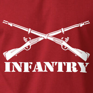 Army INFANTRY T-Shirt Rifle Gun Rights 2nd Amendment Soft Ring Spun Cotton Tee