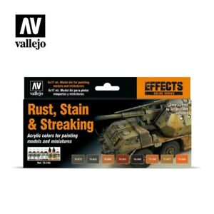 Vallejo Effects Color Series Rust Stain & Streaking Paint Set #70183