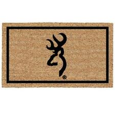 BROWNING BUCKMARK DOOR MAT, NATURAL COIR, HEAVY DOORMAT, COCONUT FIBER, DEER