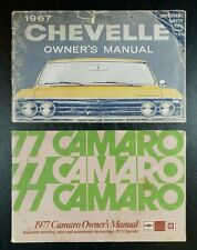 Vintage 1967 Chevy Chevelle and 1977 Chevrolet Camaro Owners Manual