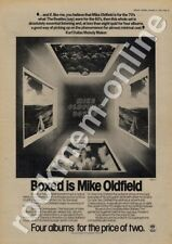 Mike Oldfield Boxed VBOX1 LP advert 1976