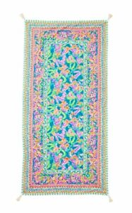 NWT Lilly Pulitzer Beach Blanket Blue Ibiza Shell Search Engineered