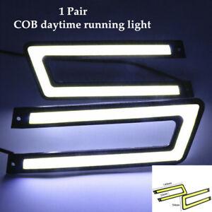 1 Pair Auto Car LED Daytime Lamp Waterproof COB High-power Driving Lights Kit