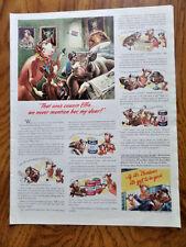 1942 Borden's Milk Ad  Elmer & Elsie   Cousin Effie