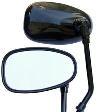 SCOOTER REARVIEW MIRROR MOTORCYCLE MOPED GY6 50cc 125cc 150cc 250cc BLACK 10MM