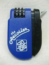 Ski Tote The Recoiler Retractable Cable Combination Lock - Blue & Black Case