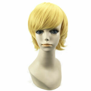 Cosplay Anime Short Wigs Straight Unisex Full Wigs Heat Resistant Party Costume