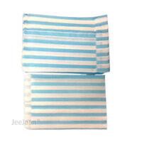 "100 Aqua & WHITE STRIPE PAPER BAGS SIZE 5 X 7"" CANDY SWEET GIFT Pick n Mix"