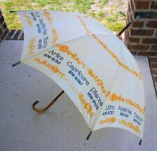 Very Rare Vintage Warden Brooks Ltd Horoscope Umbrella