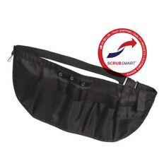 New Emi Large Nylon Medical Nurse Apron Pocket Organizer Pouch Tool Belt - Black