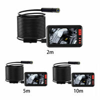 "Waterproof 4.3"" 1080P HD F200 Inspection Borescope Monitor Endoscope Camera Pipe"