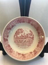 Mount Vernon Jon Roth Staffordshire England Red Etched Style Mini Trinket Plate