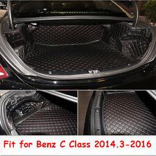 Cargo Trunk Boot Liner Carpet Cover Mat For Benz C Class 2014.3-2016 Waterproof
