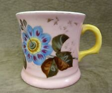 VINTAGE SHAVING MUG - DUSTY PINK FULL WRAP OR BAND WITH IMAGE OF PASSION FLOWER