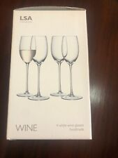 LSA Internation 3 Piece Set White Wine Glasses - One Missing From Set Of Four