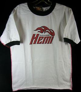 DODGE HEMI T-Shirt Men's White Short Sleeve Size MED Pre-Owned NOS GOTTA GO!!!