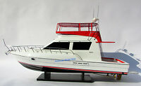 """Silverton 42 Convertible Model Yachts 35"""" - Handcrafted Wooden Boat Model NEW"""