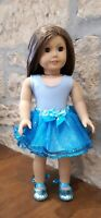 """18"""" American Girl/Our Generation Dolls Clothes - Gorgeous Blue Sparkly Tutu Set!"""